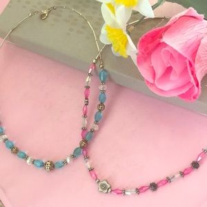 Jewelry - Pink & Blue Beaded Necklaces🌸❄️